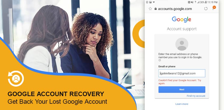 Google Account Recovery, Google