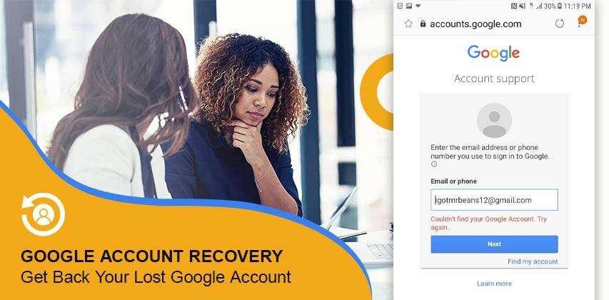 Google Account Recovery, Google
