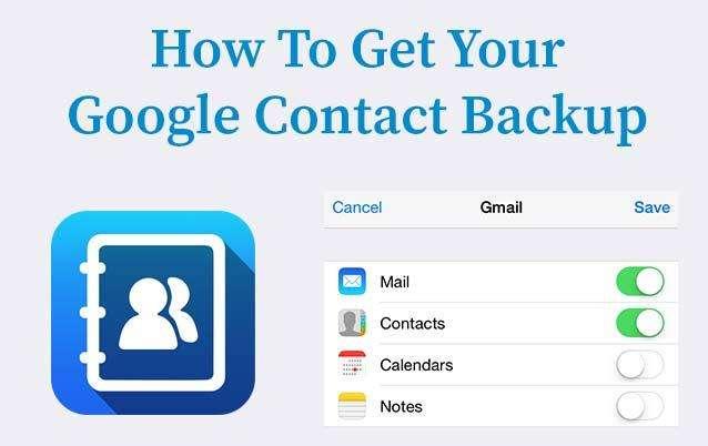 Google Contact Backup