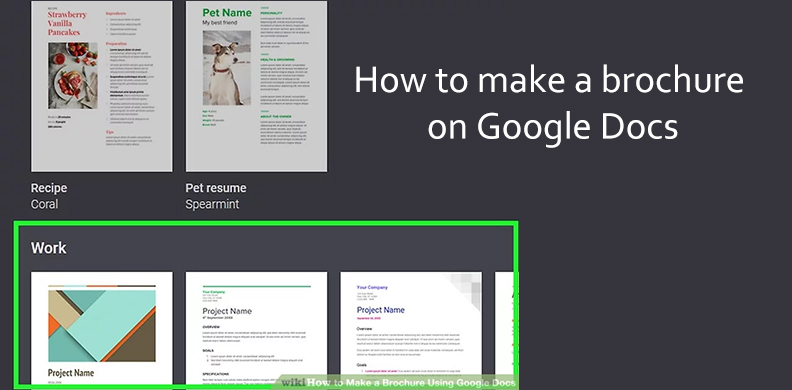 Here We Provide Steps About How To Make A Brochure On Google Docs