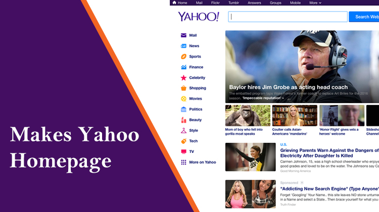 How to Make Yahoo My Home Page? Solution by Yahoo Homepage
